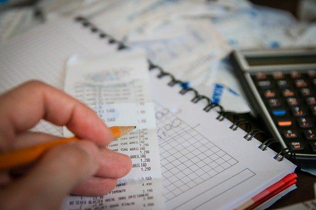 kalkulačka, účet, počítat
