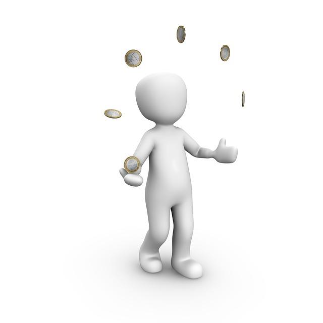 peníze, žonglovat, figurka